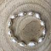 Simple  Gold Perlový náramok z pravých riečnych perál
