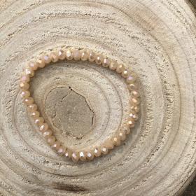 Krištáľový náramok marhuľový