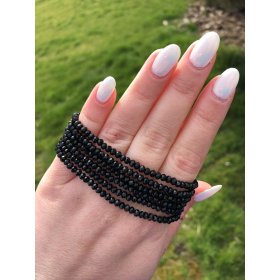 Crystal Beads čierny náramok