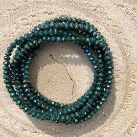 Crystal Beads zelený náramok