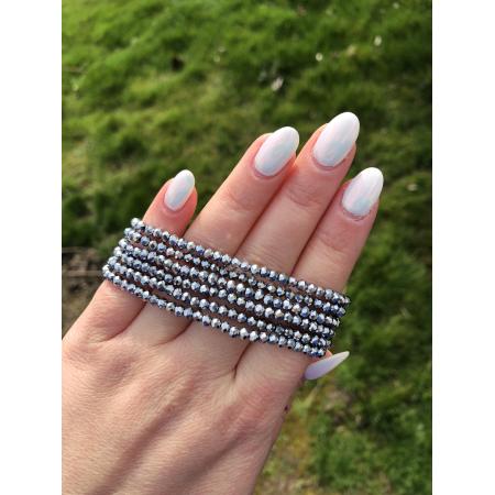 Crystal Beads strieborný náramok