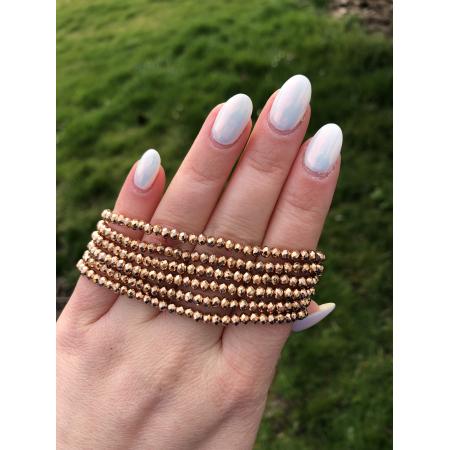 Crystal Beads zlatý náramok