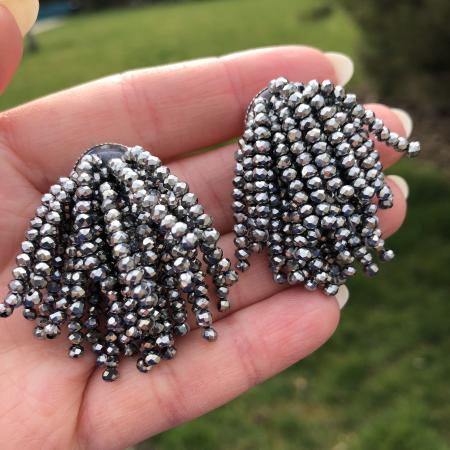 Crystal Beads Dayra náušnice strieborné