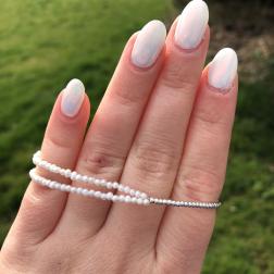Double Silver Perlový náramok z pravých riečnych perál