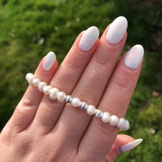Katy Perlový náramok z pravých riečnych perál