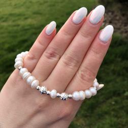 Kylie Perlový náramok z pravých riečnych perál