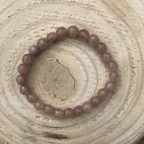 Náramok minerál bledohnedý brúsený