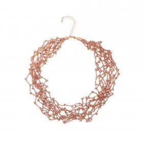 Náhrdelník Dea Rose Gold Crystal Beads