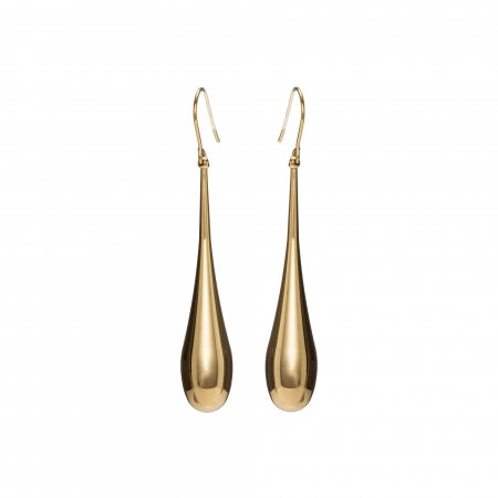 Náušnice Stainless Steel Big Drop Earring Gold