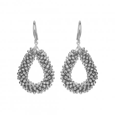 Náušnice Dila Silver Crystal Beads