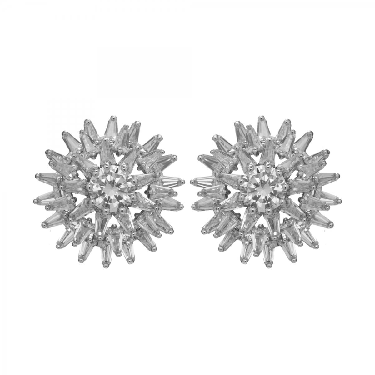 Náušnice Star Zircon Crystals Stainless Steel
