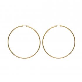 Náušnice Stainless Steel Midi Hoop Earring Gold