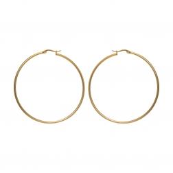 Náušnice Stainless Steel Big Hoop Earring Gold