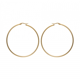 Náušnice Stainless Steel Big Hoop Earring Gold