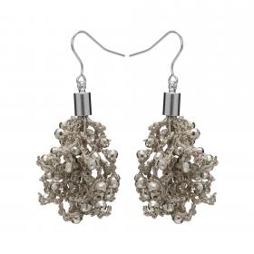 Náušnice Dara Silver Crystal Beads