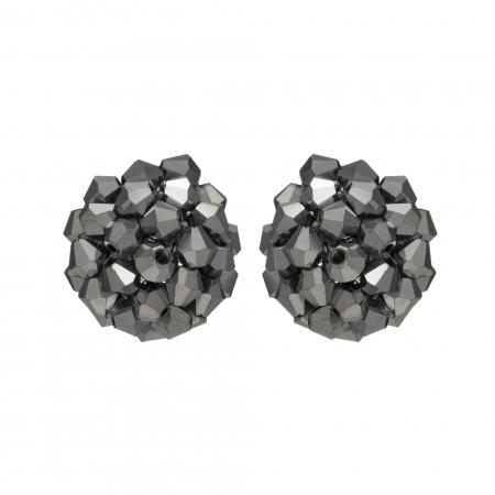 Náušnice Deny Hematit Crystal Beads