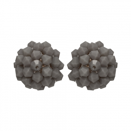 Náušnice Deny Grey Crystal Beads