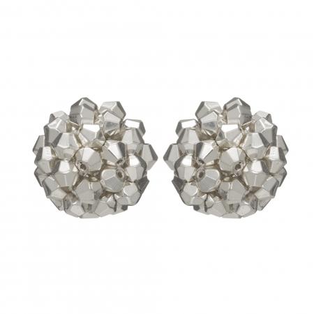 Náušnice Deny Silver Crystal Beads