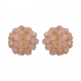 Náušnice Deny Pink Rose Gold Crystal Beads