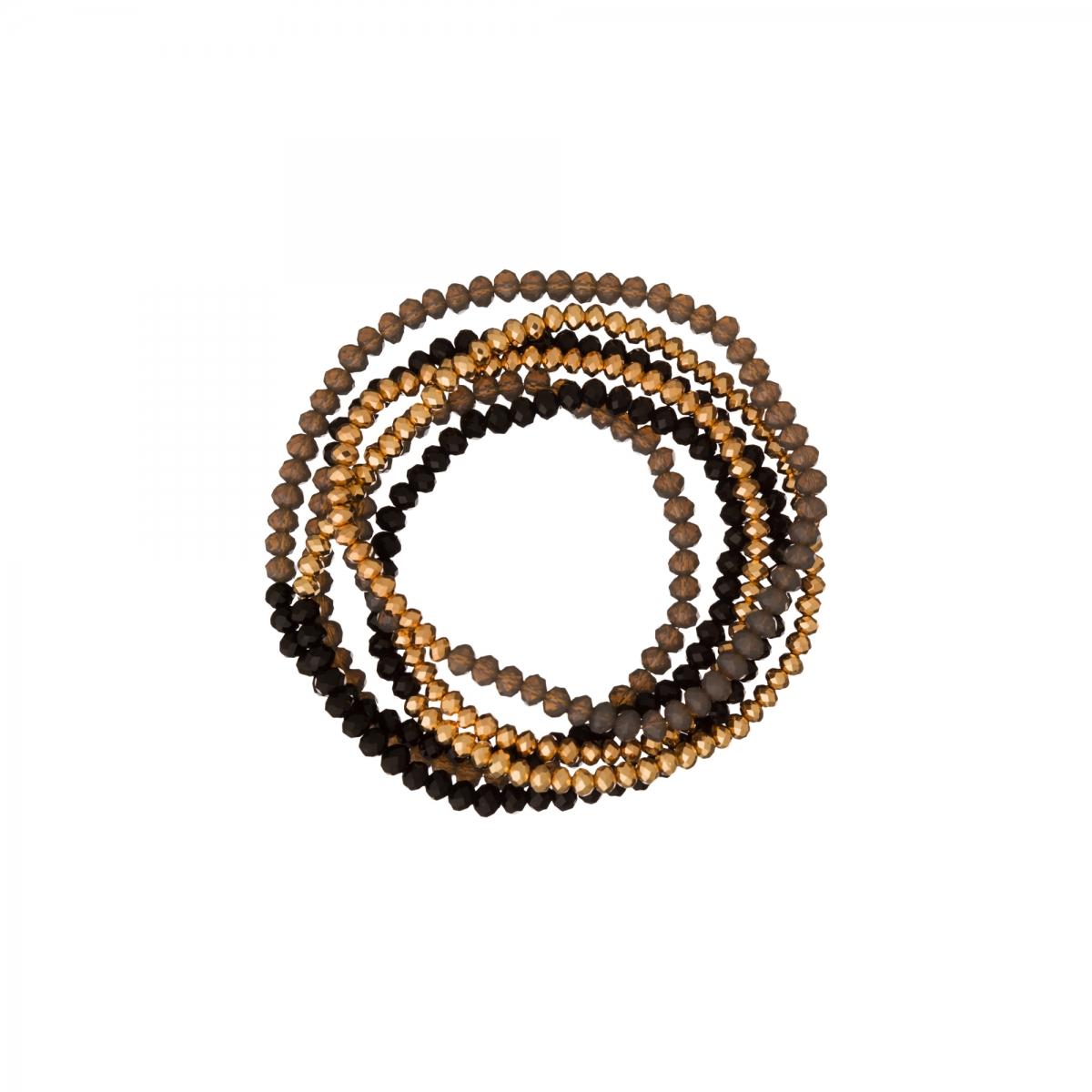 Náramok Black Gold Crystal Beads
