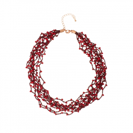 Náhrdelník Dea Red Crystal Beads