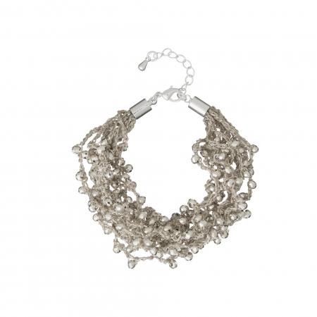 Náramok Dina Silver Crystal Beads