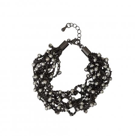 Náramok Dina Hematit Crystal Beads