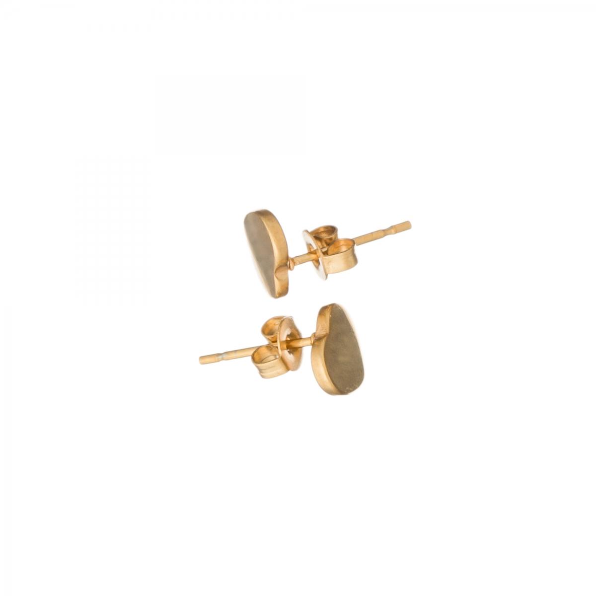 Náušnice Mini Heart Stainless Steel Gold