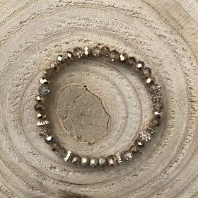 Krištáľový náramok bronzový lesklý 1