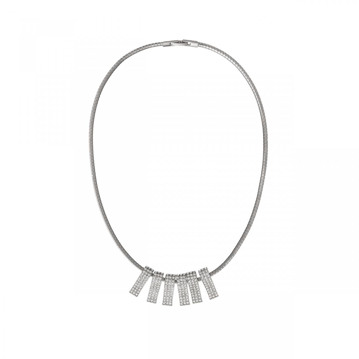 Náhrdelník Elegance Modern Style Zircon Crystals Silver