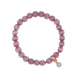 Náramok Mineral Light Purple Cat Eye Rose Gold Crystal