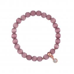 Náramok Mineral Light Purple Cat Eye Rose Gold Crystal