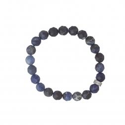 Náramok Mineral Dark Blue Jadeit Silver Zircon