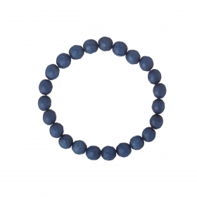 Náramok Mineral Dark Blue Facet Angelit Elastic