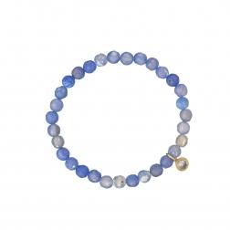 Náramok Mineral Light Blue Jadeit Crystal Gold
