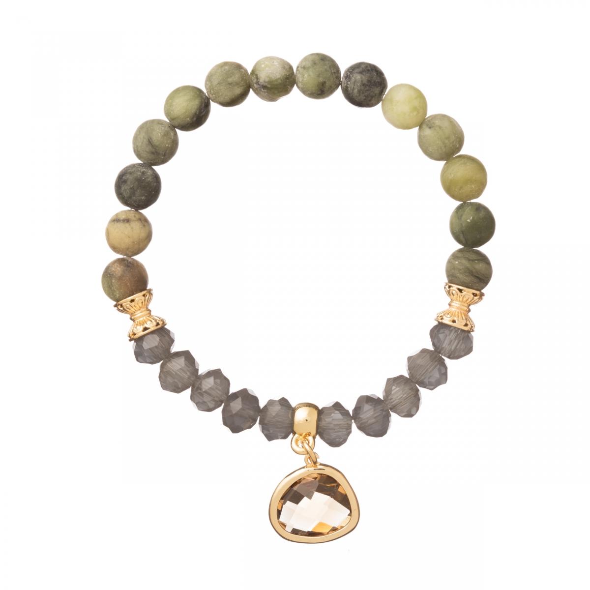 Náramok Mineral Green Gold Zircon Crystal