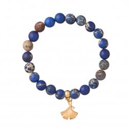 Náramok Mineral Navy Blue Gold Leaf