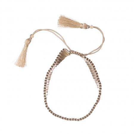 Náramok Silver Beads Lines Friendship Bracelet