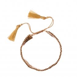 Náramok Gold Beads Lines Friendship Bracelet