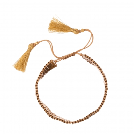 Náramok Gold Beads Lines Friendship Bracelet