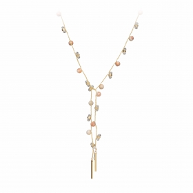 Náhrdelník Fine Choker Style Peach Minerals & Crystals Gold
