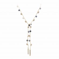 Náhrdelník Fine Choker Style Blue Minerals & Crystals Gold