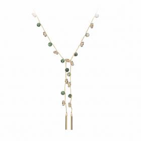 Náhrdelník Fine Choker Style Green Minerals & Crystals Gold