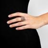 Prsteň Big Metal Rhodium Elastic
