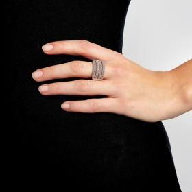 Prsteň Simply Rhodium Elastic
