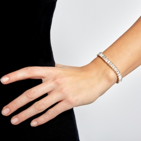 Náramok Lines Luxury Crystal Gold