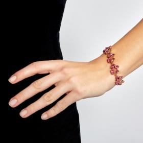Náramok Lace Luxury Pink Crystal Gold
