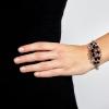 Náramok Black Lace Rhodium Elastic
