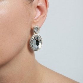 Náušnice Diamant Vintage Crystal Gold
