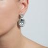 Náušnice Diamant Vintage Crystal Silver